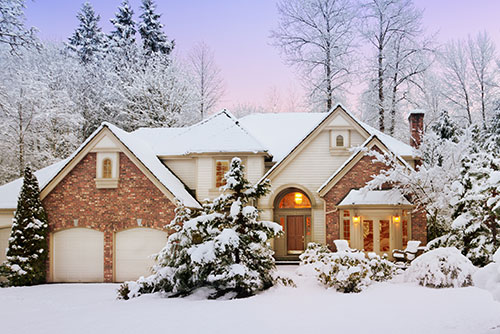 winter home using a heat pump system to stay warm
